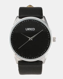 Lanco Black Strap Watch
