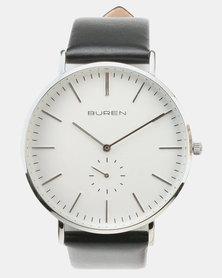 Buren Strap Watch Silver/Black