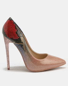 London Hub Fashion Ombre Print Courts Pink