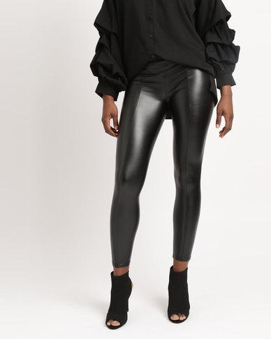 1c776de59439 AX Paris Wet Look Leggings Black | Zando