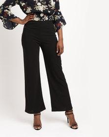 AX Paris High Waisted Flared Trousers Black