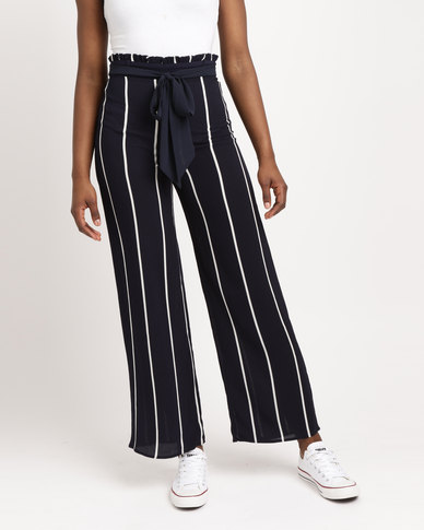 AX Paris Flared Trousers Navy