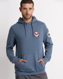 Tokyo Laundry Pawwood Pullover Hoodie Blue