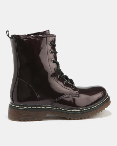 London Hub Fashion London Hub Fashion Lace Up Boots Bordo High Shine great deals sale online the cheapest online genuine buy cheap sast cheap sale sast cnA2iKZuuD