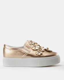 London Hub Fashion Embellished Sneakers Rose Gold