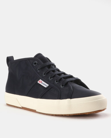 Superga Nylon Mid Sneakers Waterproof Navy Blue with paypal free shipping RsJs6
