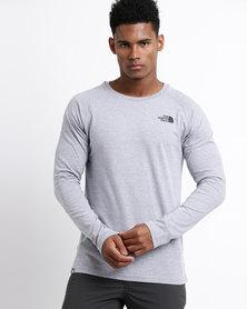 The North Face Long Sleeve Raglan Simple Dome T-Shirt Grey