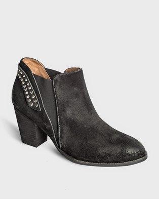 Jeffrey Campbell Kabru Boots Black Suede