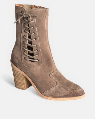 Jeffrey Campbell Sispara Boots Taupe Suede