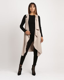 Blue Mango Draped Cardigan Cream