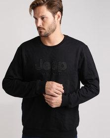 Jeep Fleece Crew Sweatshirt Black