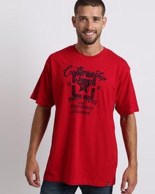 Jeep Basic Print T-Shirt Red