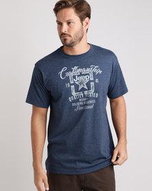 Jeep Basic Print T-Shirt Blue