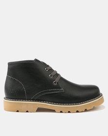 Luciano Rossi Stitch Boots Black