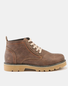 Luciano Rossi Lace Up Boots Brown