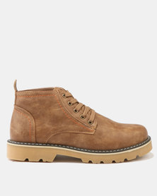 Luciano Rossi Lace Up Boots Camel
