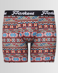 Frankees Printed Long Leg Pouch Trunks Big Chief