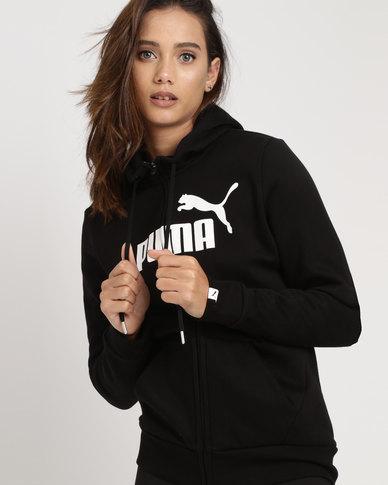 Puma Ess No.1 FZ Hoodie FL W Black  af7b579931