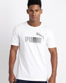 Puma P48 Core Logo Tee White