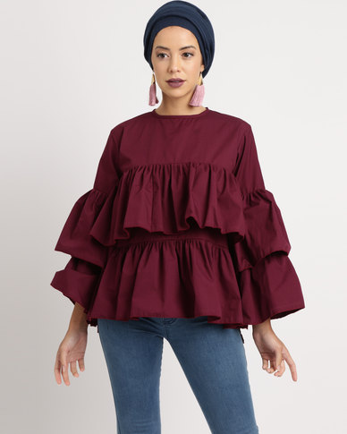 Shop.Style.Snap Top Deep Plum