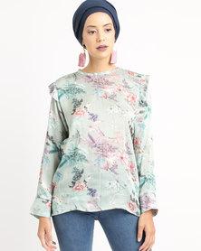 Shop.Style.Snap Floral Top Mint