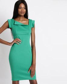 City Goddess London Chic Mad Men Style Dress Jade