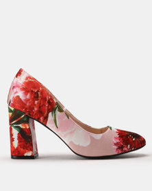 Footwork Colo Printed Court Heels Red