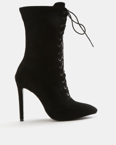 Wild Alice by Queue Wild Alice by Queue Plain Lace Up Boots Black best seller cheap online cheap shop for footlocker sale online cheap sale order clearance new styles FfjMR