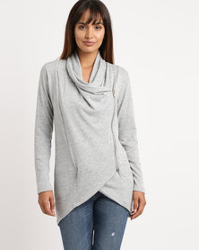 Nucleus Waiting Room Cardigan Grey Melange