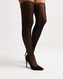 Public Desire Annabelle OTK Boots Black