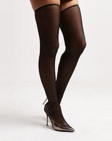 Public Desire Annabelle OTK Boots Rose Gold/Black