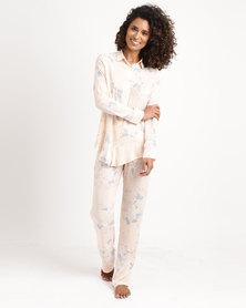 Women'secret Long Pajama Set Pink