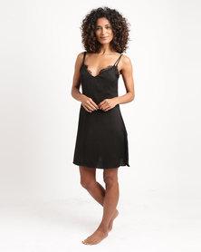 Women'secret Sense Nightdress Black