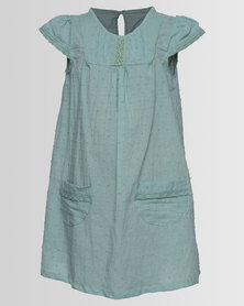 Myang Dress With Lace Sage