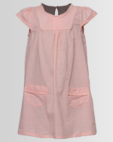 Myang Dress With Lace Salmon
