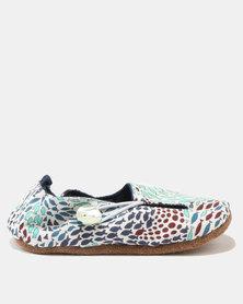 Myang Fish Swirls Keyhole Shoes Blue