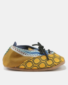 Myang Wax Takkies Yellow & Blue
