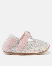 Myang Fish Swirl T-Bar Shoes Salmon