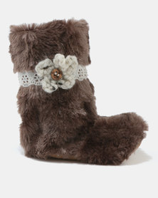 Myang Fur Boots Brown