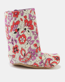 Myang Floral Cord Boots Multi