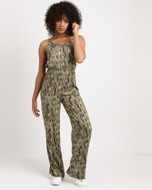 Jota-Kena Bowback Jumpsuit Green