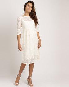 Jota-Kena Jane Lace Dress With Petty Coat Cream