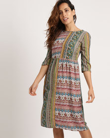 Jota-Kena Jane Patch Dress Multi