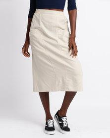 Jota-Kena Linen Pocket Skirt Cream