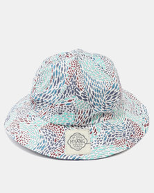 Myang Blue Fish Swirl Sun Hat