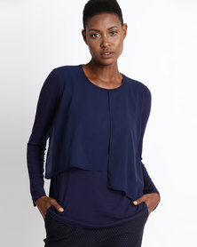 Gordon Smith Layered Top Navy
