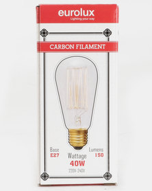 Eurolux Filament Light Bulb Plain Top 15AK Up And Down Clear