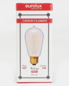Eurolux Filament Light Bulb Candle 9AK Leaves Clear