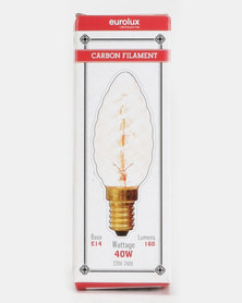 Eurolux Filament Light Bulb Candle Twisted 7AK Clear