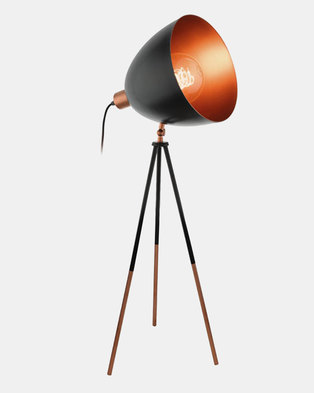 Eurolux Chester Table Lamp Black And Copper